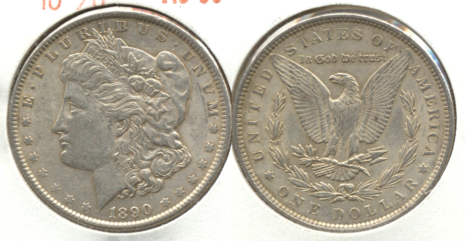 1890 Morgan Silver Dollar AU-50 d
