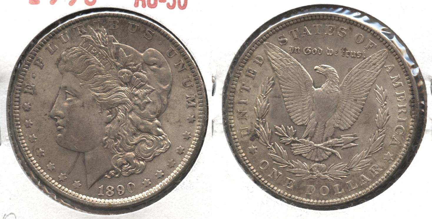 1890 Morgan Silver Dollar AU-50 #o