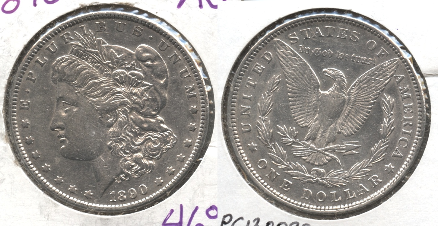 1890 Morgan Silver Dollar AU-50 #r