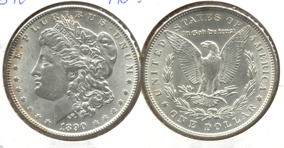 1890 Morgan Silver Dollar AU-55 b