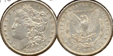 1890 Morgan Silver Dollar EF-40 a
