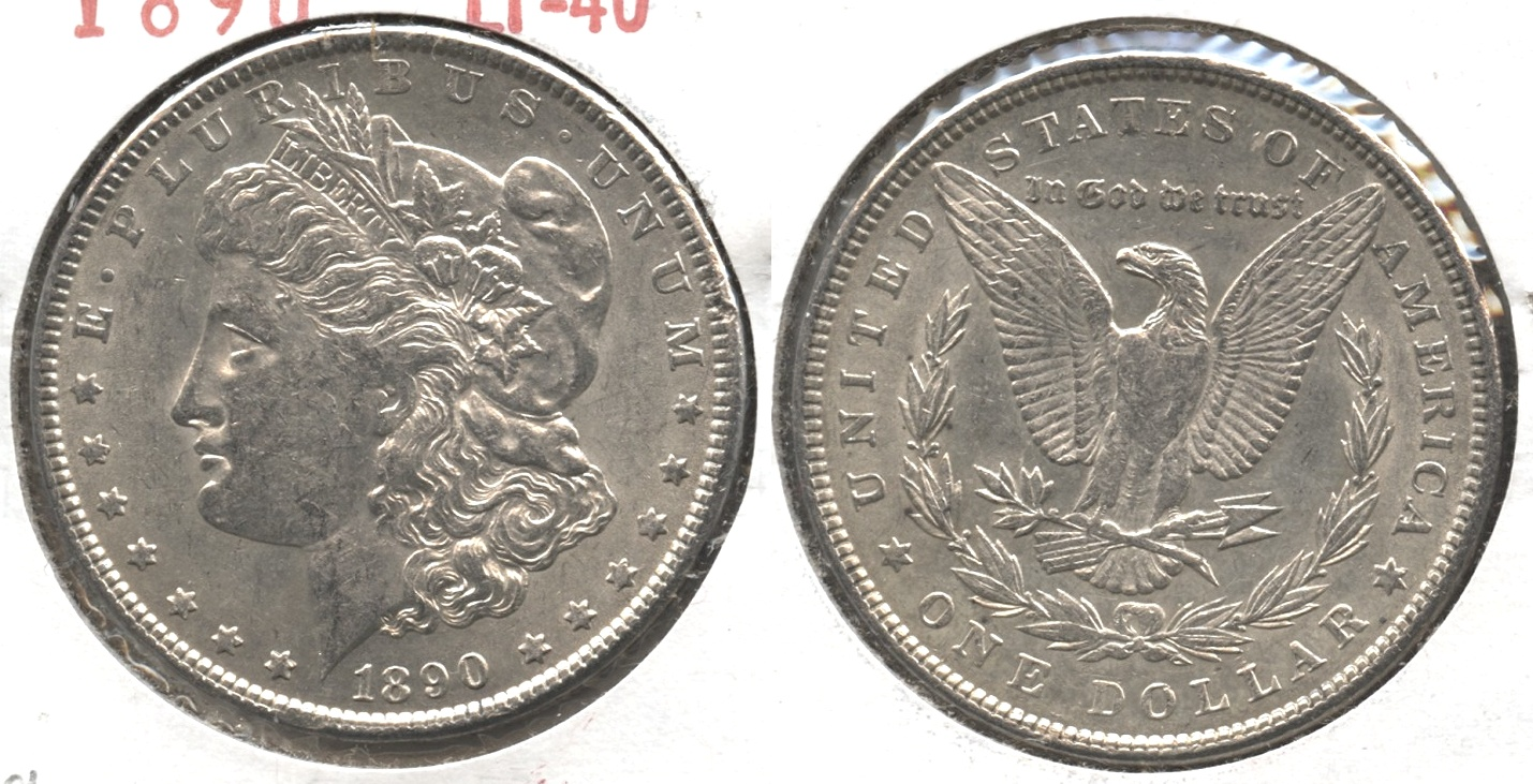 1890 Morgan Silver Dollar EF-40 #ag