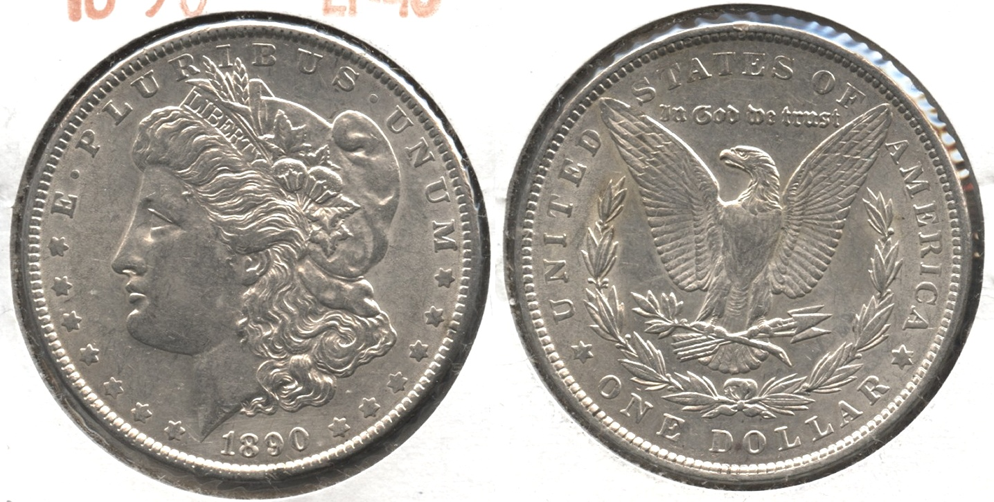 1890 Morgan Silver Dollar EF-40 #ah