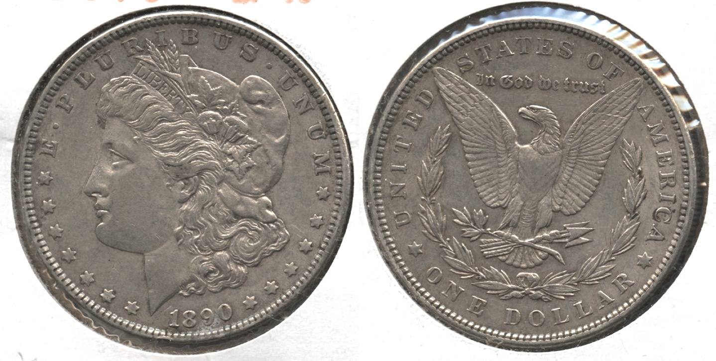 1890 Morgan Silver Dollar EF-40 #ak