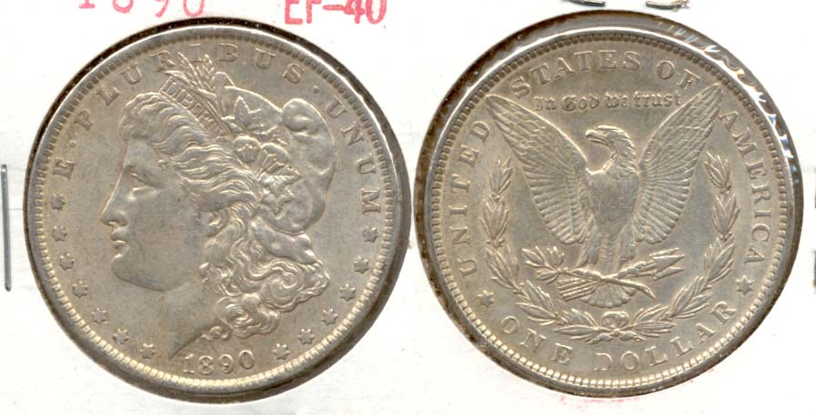 1890 Morgan Silver Dollar EF-40 e