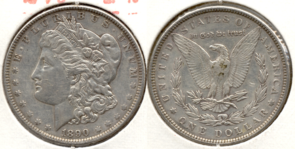 1890 Morgan Silver Dollar EF-40 q