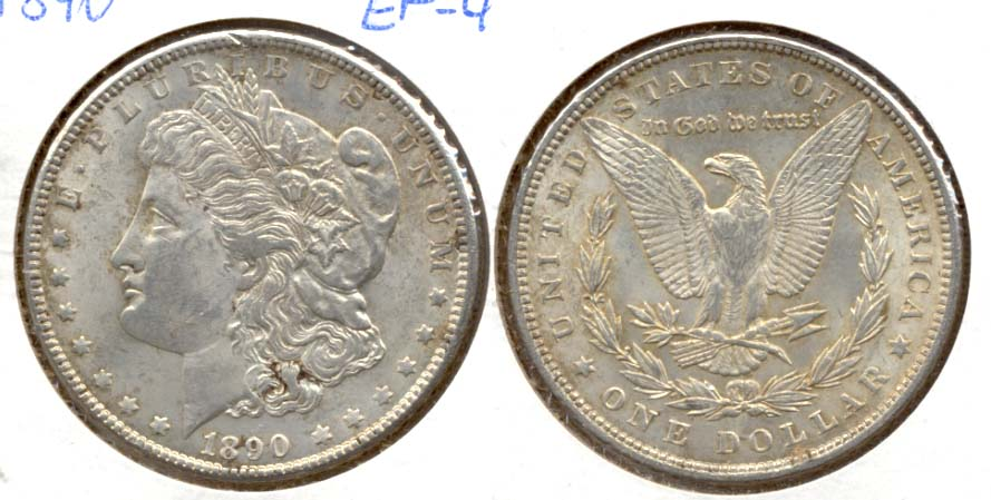 1890 Morgan Silver Dollar EF-45 a