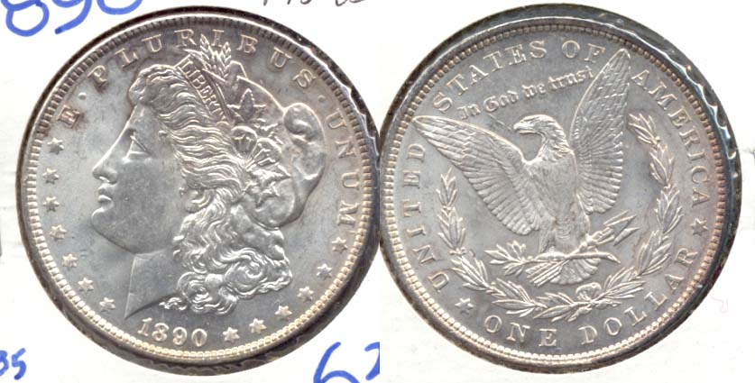 1890 Morgan Silver Dollar MS-63