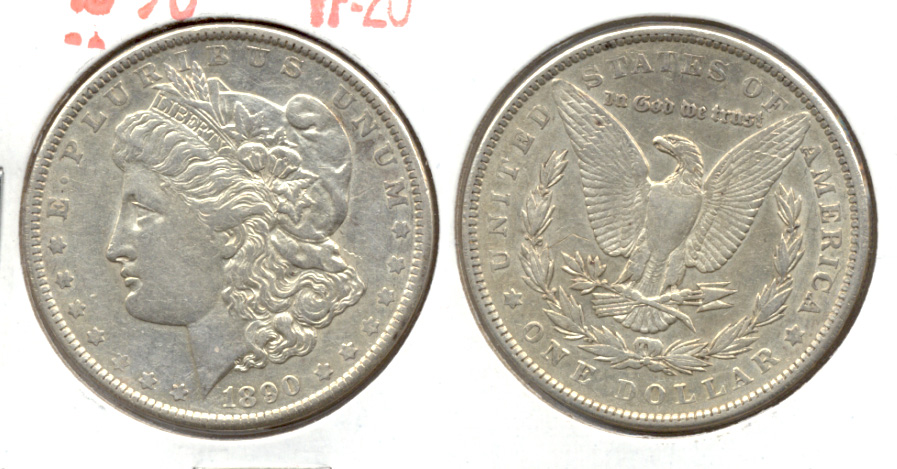 1890 Morgan Silver Dollar VF-20 a