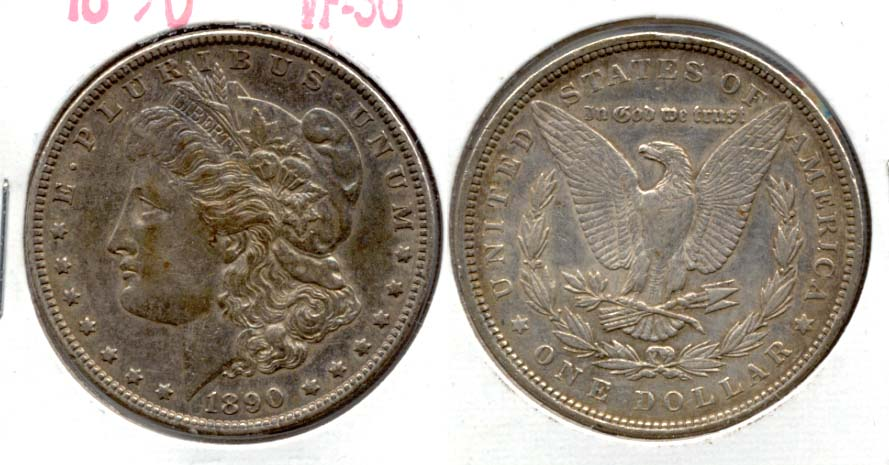1890 Morgan Silver Dollar VF-30 a