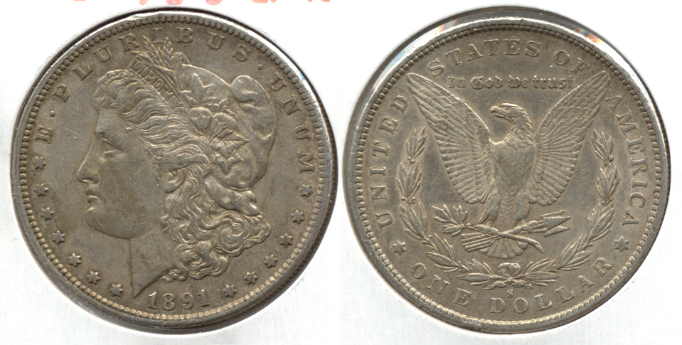 1891-S Morgan Silver Dollar EF-40 f