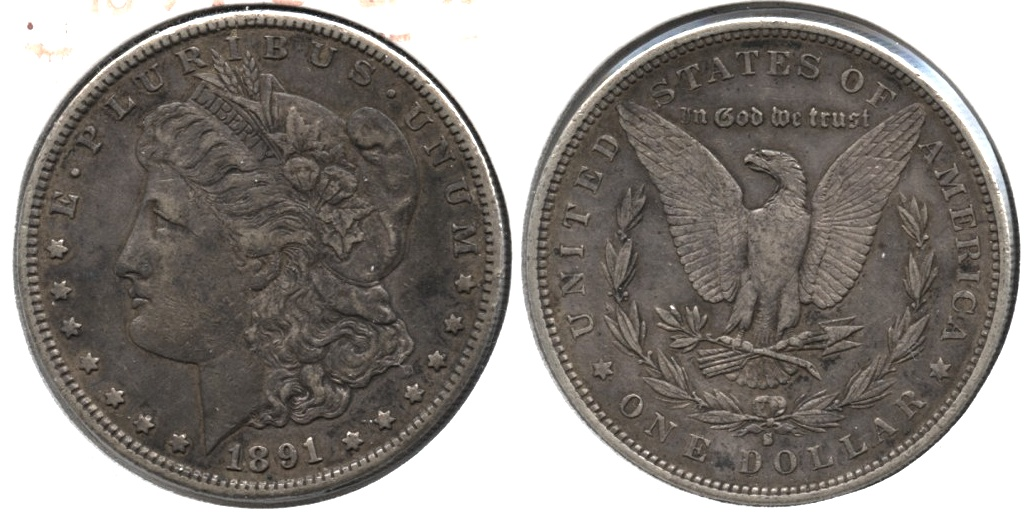 1891-S Morgan Silver Dollar EF-40 j