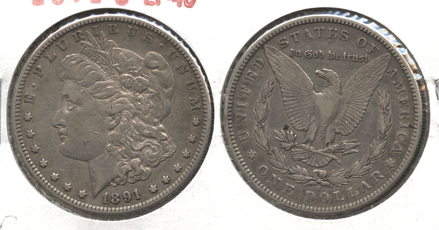 1891-S Morgan Silver Dollar EF-40 #r