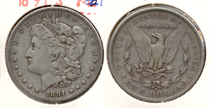 1891-S Morgan Silver Dollar Fine-12