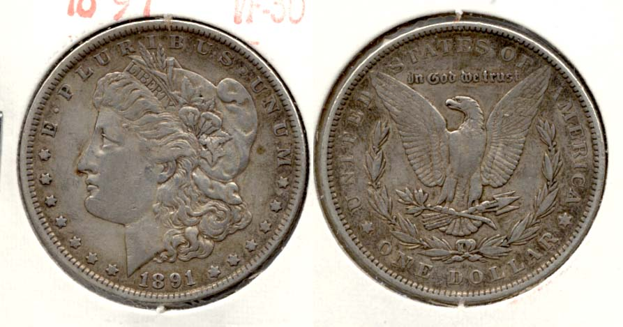1891 Morgan Silver Dollar VF-30