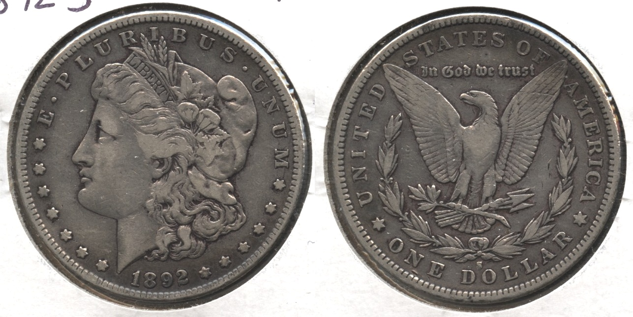1892-S Morgan Silver Dollar Fine-12