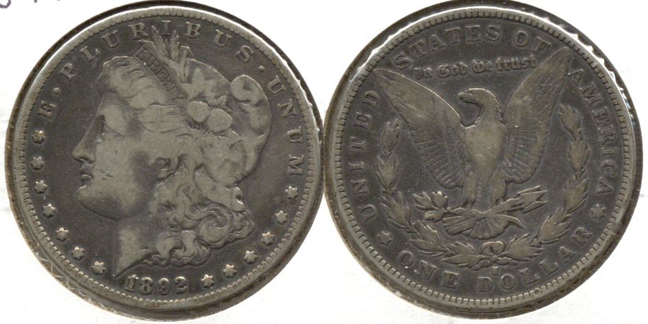1892-S Morgan Silver Dollar VG-8