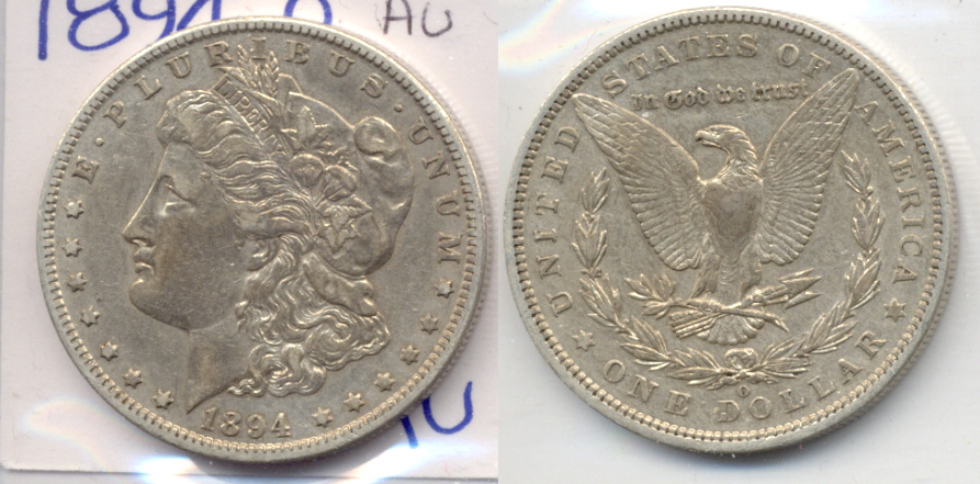 1894-O Morgan Silver Dollar AU-50