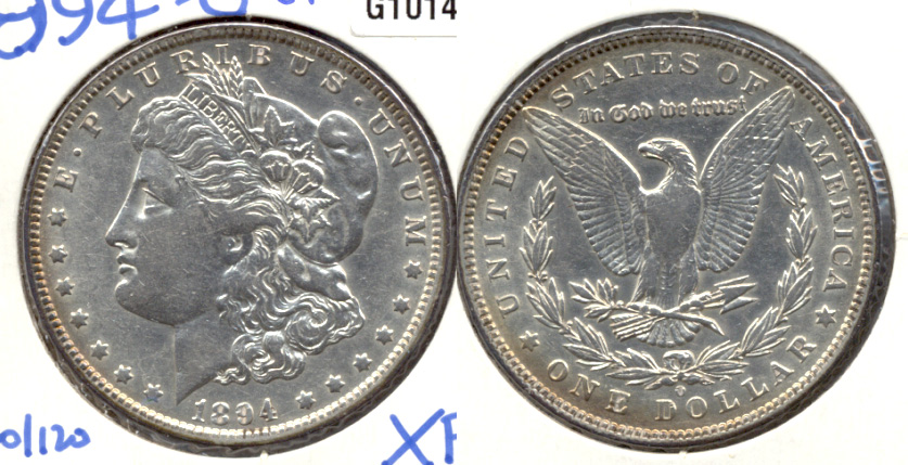 1894-O Morgan Silver Dollar EF-40 a