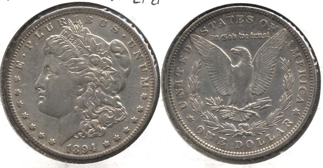 1894-O Morgan Silver Dollar VF-20 #c Lightly Cleaned