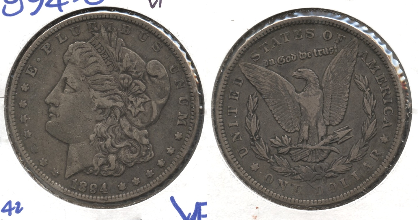 1894-O Morgan Silver Dollar VF-20 #g