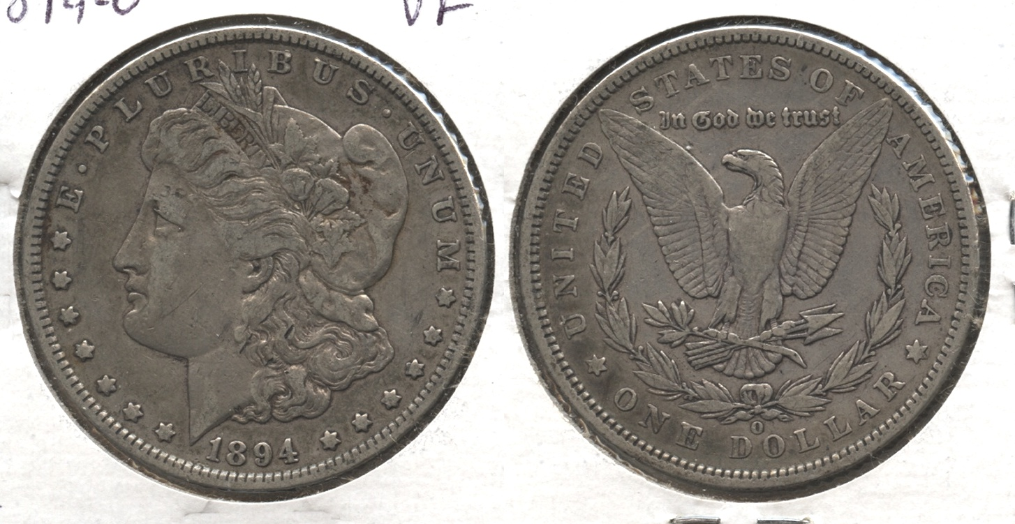 1894-O Morgan Silver Dollar VF-20 #j