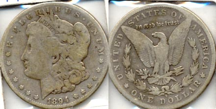 1894-S Morgan Silver Dollar Good-4