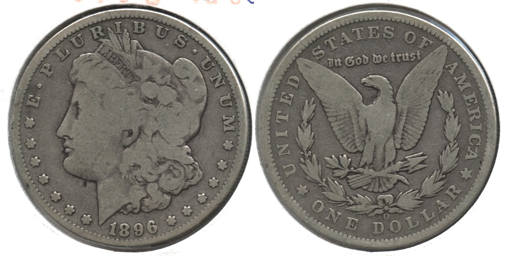 1896-O Morgan Silver Dollar Good-4