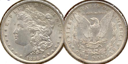 1896 Morgan Silver Dollar AU-50