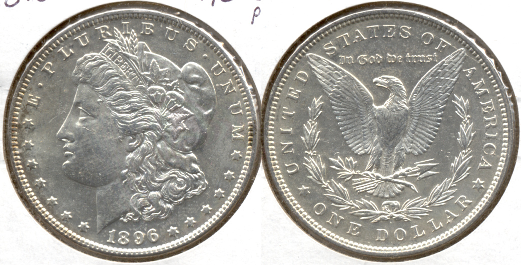 1896 Morgan Silver Dollar AU-50 ac