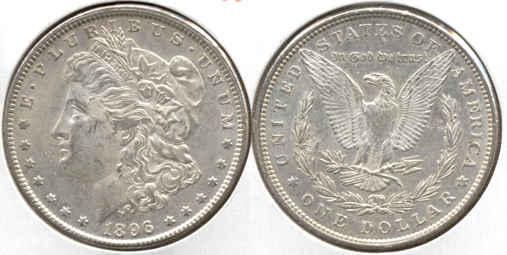1896 Morgan Silver Dollar AU-50 ad