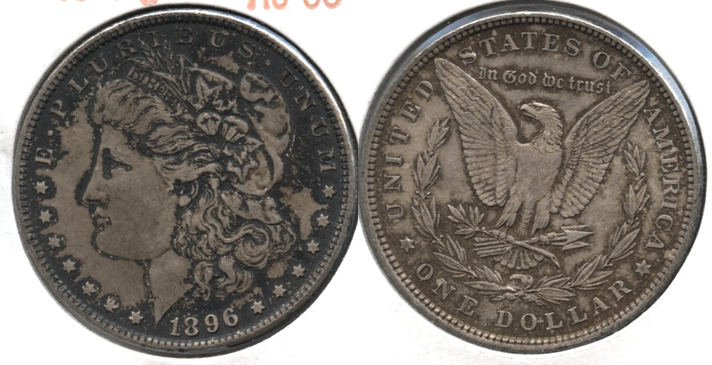 1896 Morgan Silver Dollar AU-50 #am