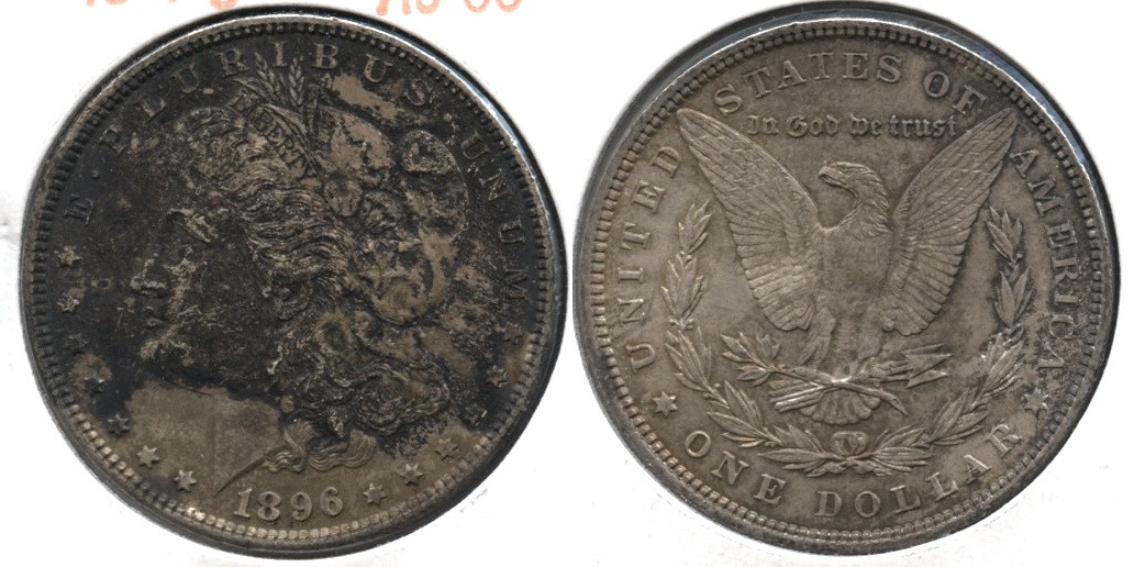 1896 Morgan Silver Dollar AU-50 #an