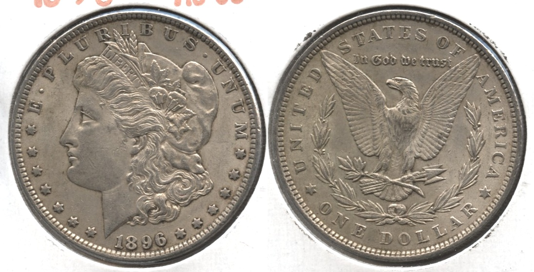 1896 Morgan Silver Dollar AU-50 #au