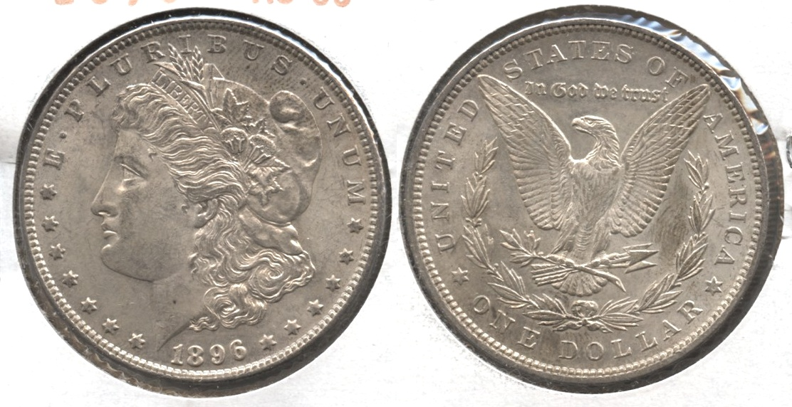 1896 Morgan Silver Dollar AU-50 #ax