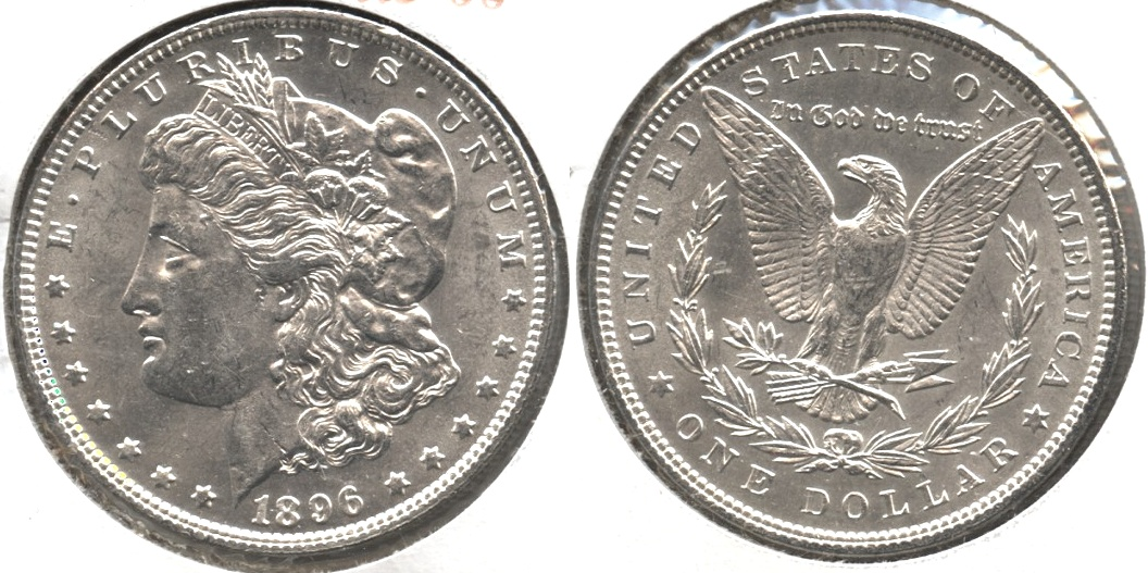 1896 Morgan Silver Dollar AU-55 #n