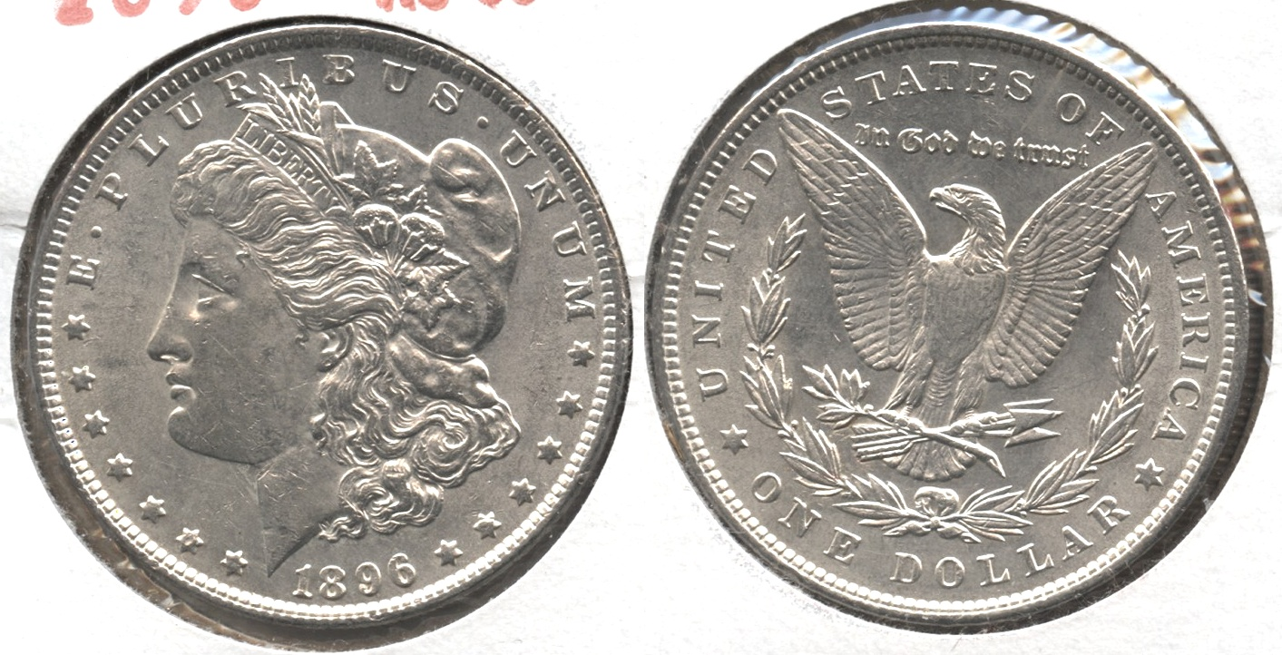 1896 Morgan Silver Dollar AU-55 #w