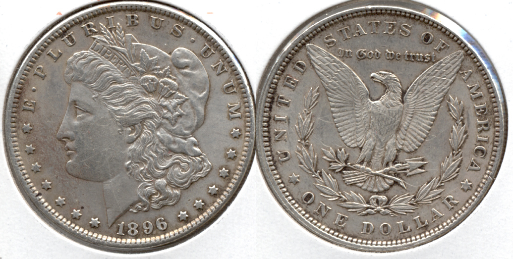 1896 Morgan Silver Dollar EF-40 ad