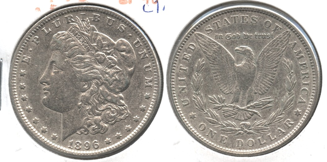 1896 Morgan Silver Dollar EF-40 #am Cleaned