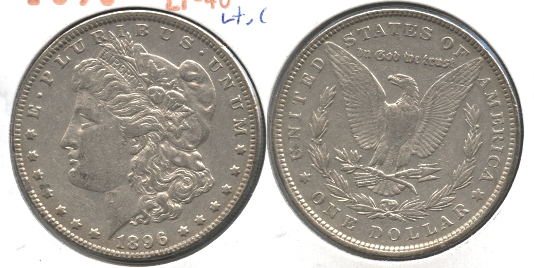 1896 Morgan Silver Dollar EF-40 #ao Lightly Cleaned