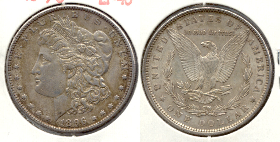 1896 Morgan Silver Dollar EF-45 d