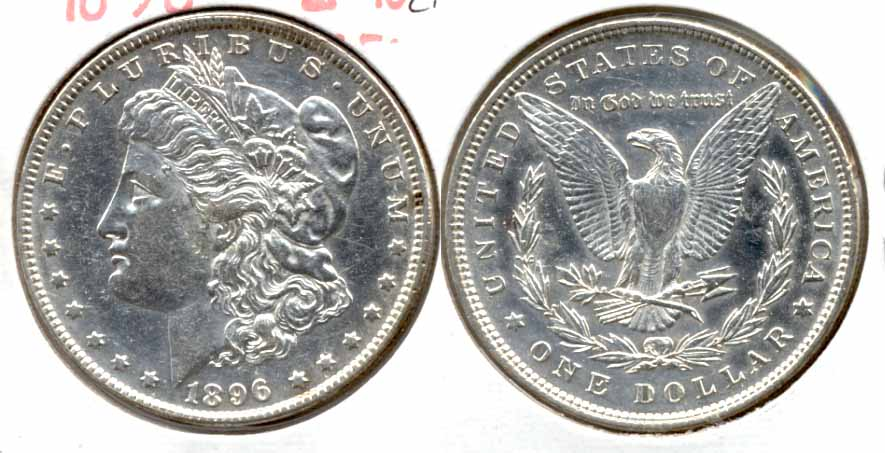 1896 Morgan Silver Dollar EF-45 f Cleaned