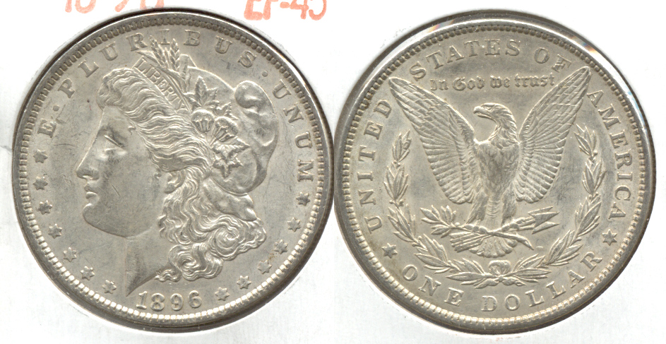 1896 Morgan Silver Dollar EF-45 n