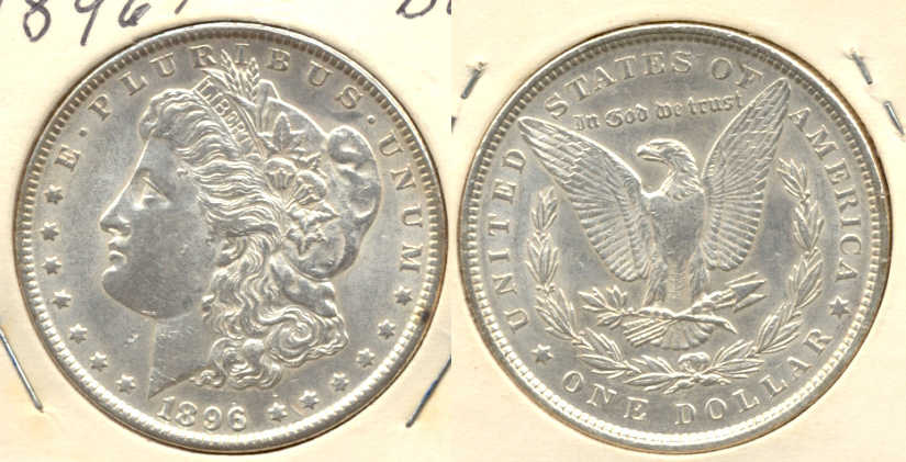 1896 Morgan Silver Dollar MS-60 b