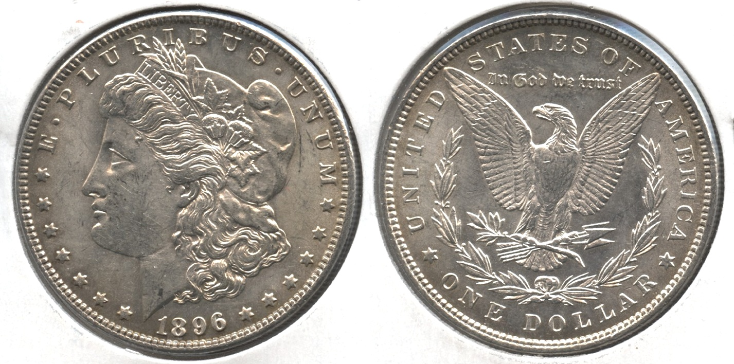 1896 Morgan Silver Dollar MS-62 #e