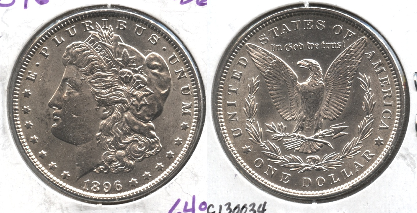 1896 Morgan Silver Dollar MS-62 #h