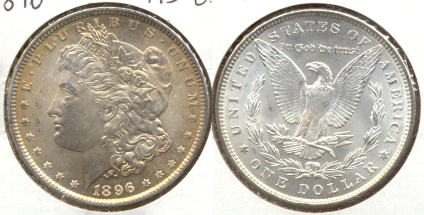 1896 Morgan Silver Dollar MS-63 b