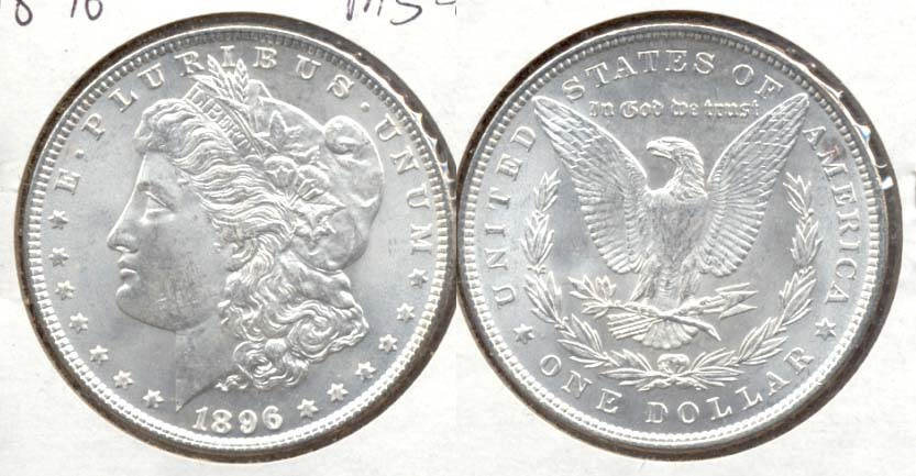 1896 Morgan Silver Dollar MS-63 j