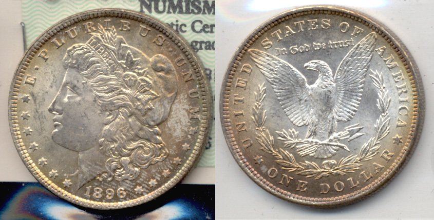 1896 Morgan Silver Dollar MS-64 a