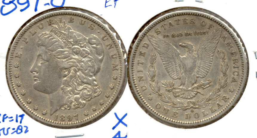 1897-O Morgan Silver Dollar EF-40